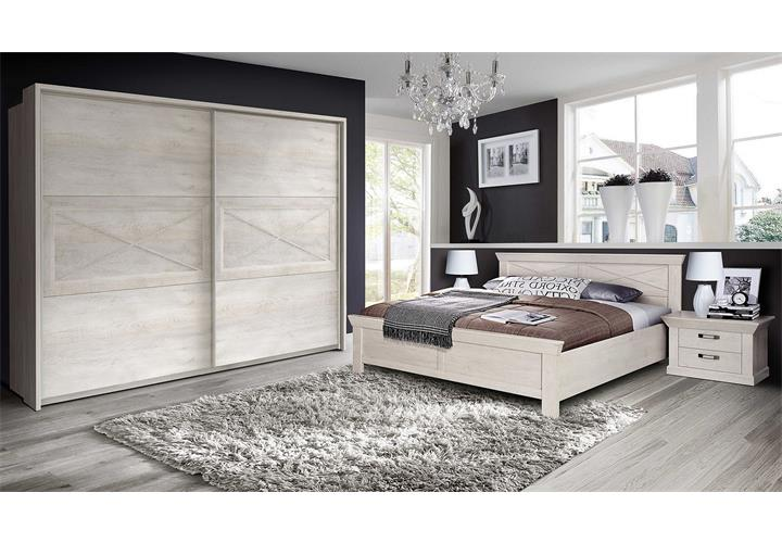 bett kashmir schlafzimmerbett doppelbett in pinie wei. Black Bedroom Furniture Sets. Home Design Ideas