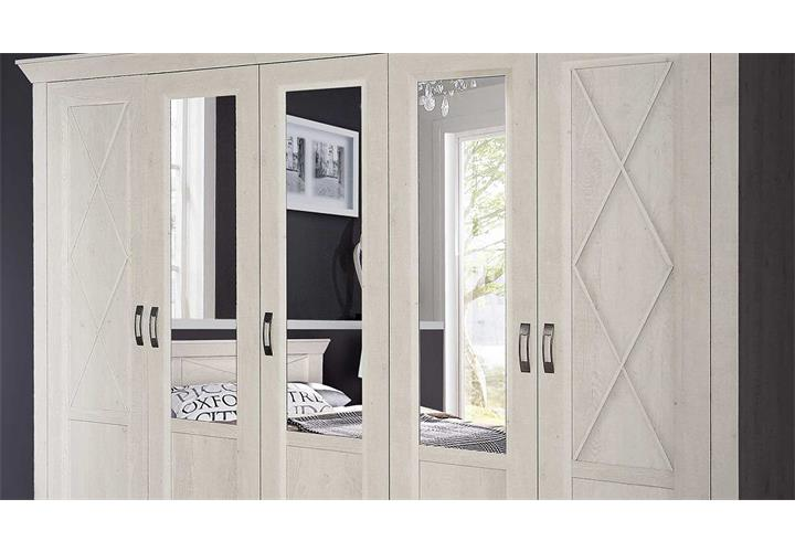 kleiderschrank kashmir schrank dreht renschrank in pinie wei mit spiegel 268. Black Bedroom Furniture Sets. Home Design Ideas