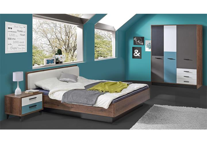 jugendzimmer 2 raven kinderzimmer in schlammeiche wei schwarz gr n grau eur 688 95 picclick de. Black Bedroom Furniture Sets. Home Design Ideas