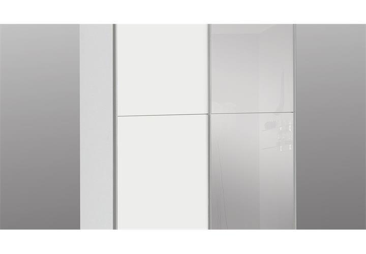 schwebet renschrank babetta kleiderschrank schrank in wei mit spiegel 120 ebay. Black Bedroom Furniture Sets. Home Design Ideas