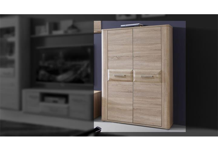 schrank aspence highboard wohnzimmerschrank vitrine in sonoma eiche eur 219 95 picclick de. Black Bedroom Furniture Sets. Home Design Ideas