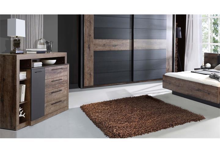 Schlafzimmer Bellevue Bett 180X200 Nachttische Schwebetürenschrank