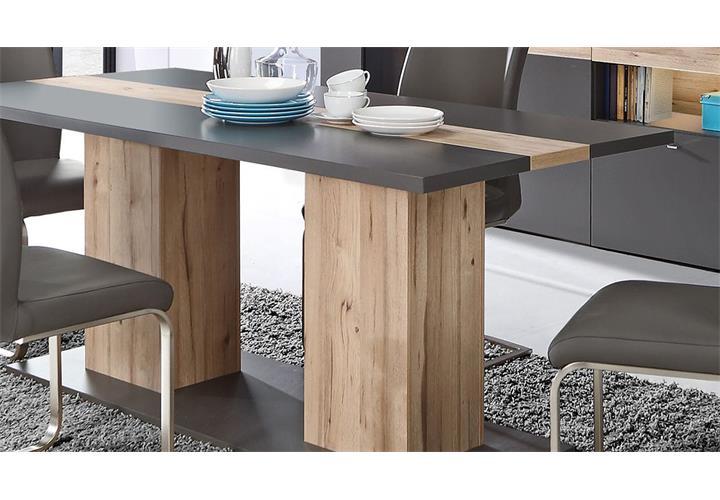 Esstisch Como Küchentisch Tisch Esszimmertisch Uni Wolfram grau Planked Eiche 18 eBay