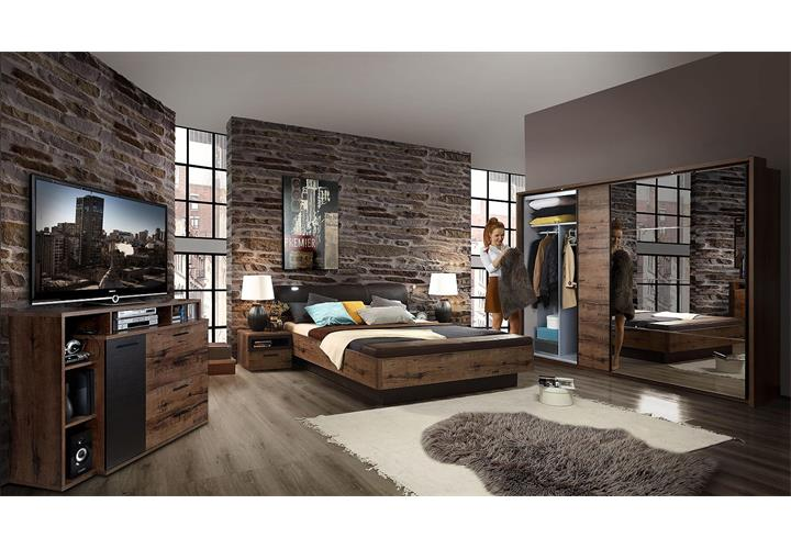 bett jacky bettgestell schlafzimmer mit bank schlammeiche. Black Bedroom Furniture Sets. Home Design Ideas