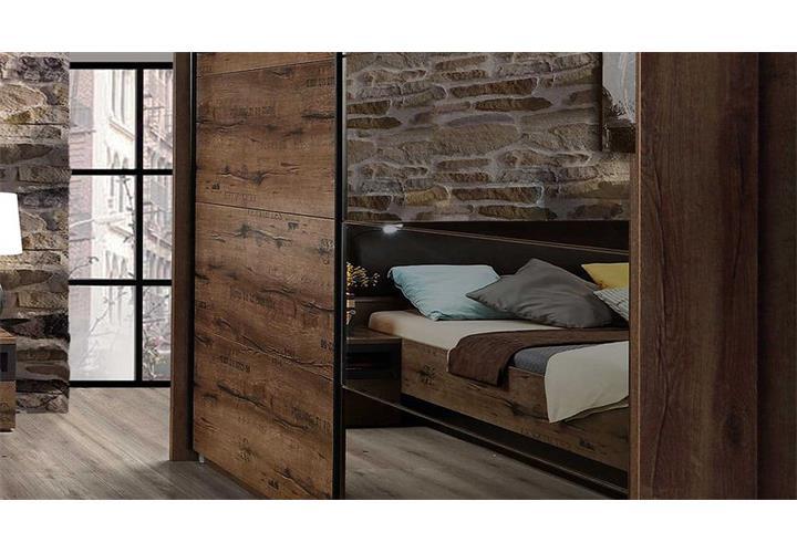 Schlafzimmer Set Jacky Bett Schwebetrenschrank Nako