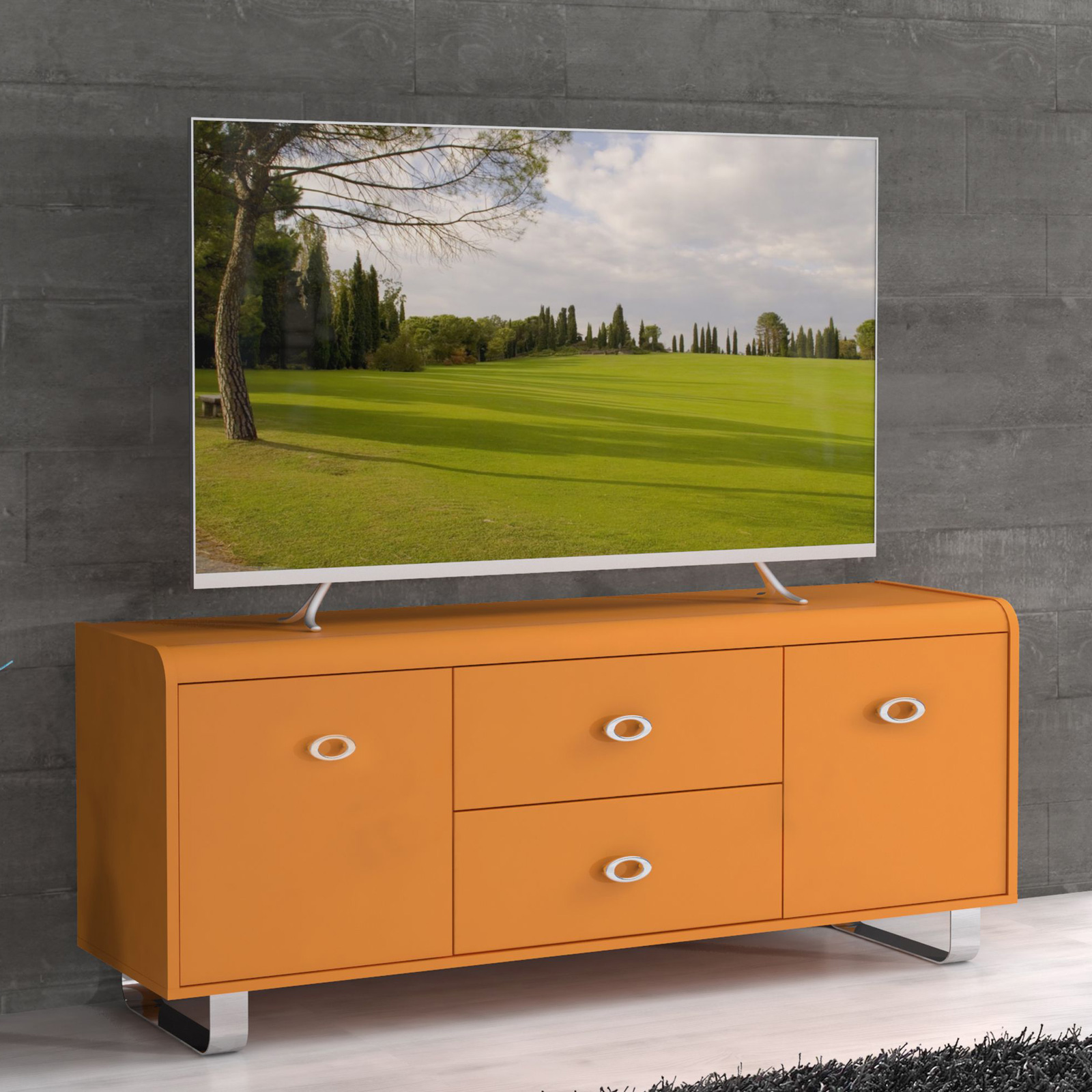 tv unterschrank gipsy kommode sideboard in orange blau rot. Black Bedroom Furniture Sets. Home Design Ideas