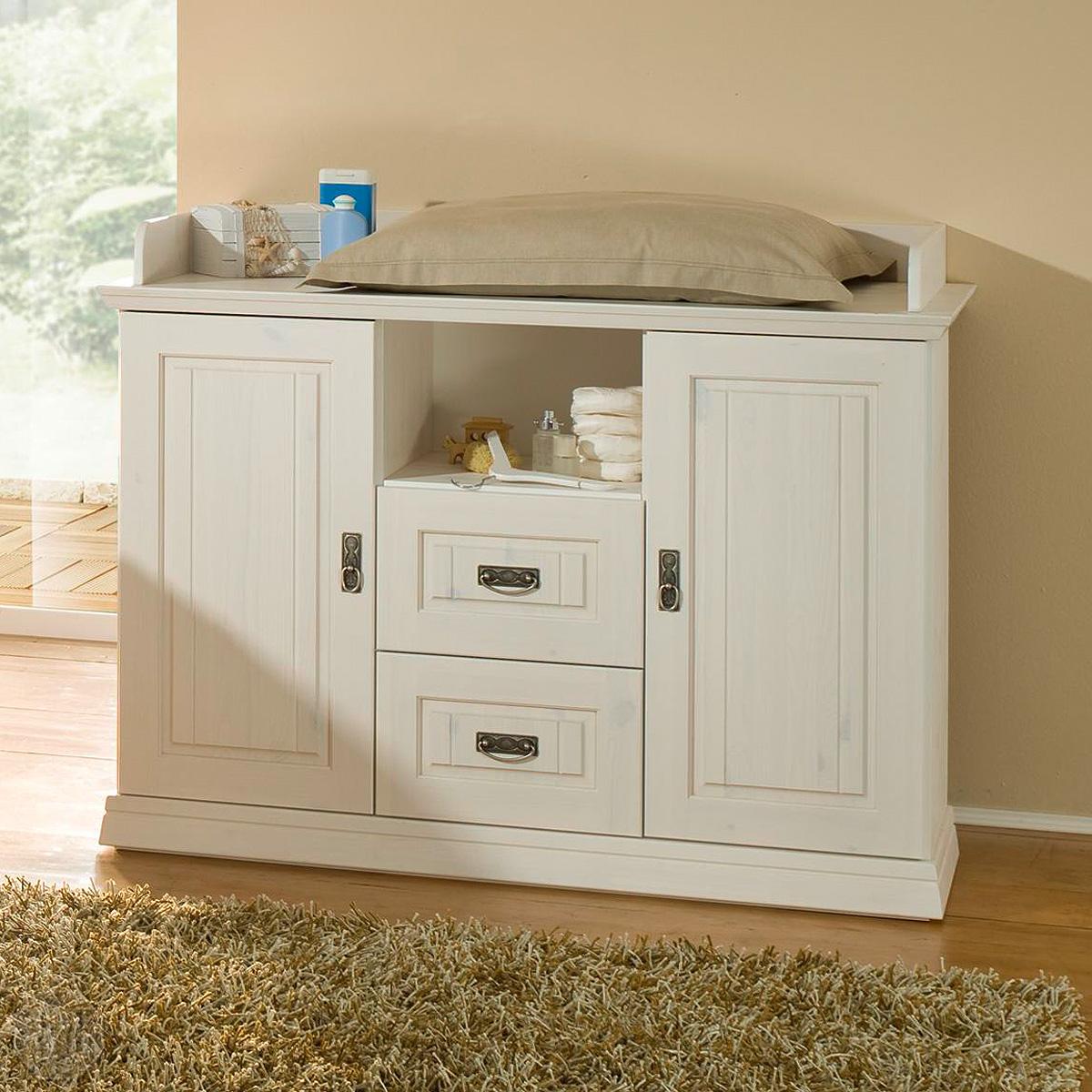 wickelkommode ronja in wei massiv babyzimmer ebay. Black Bedroom Furniture Sets. Home Design Ideas