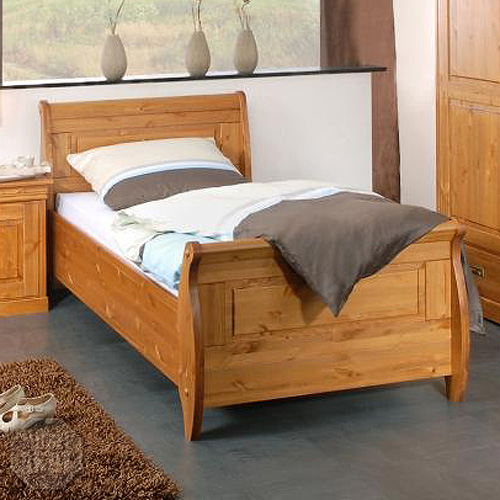 bett roland kiefer massiv honig 100x200 neu ebay. Black Bedroom Furniture Sets. Home Design Ideas