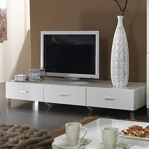 tv board bari lowboard wei hochglanz lackiert ebay. Black Bedroom Furniture Sets. Home Design Ideas