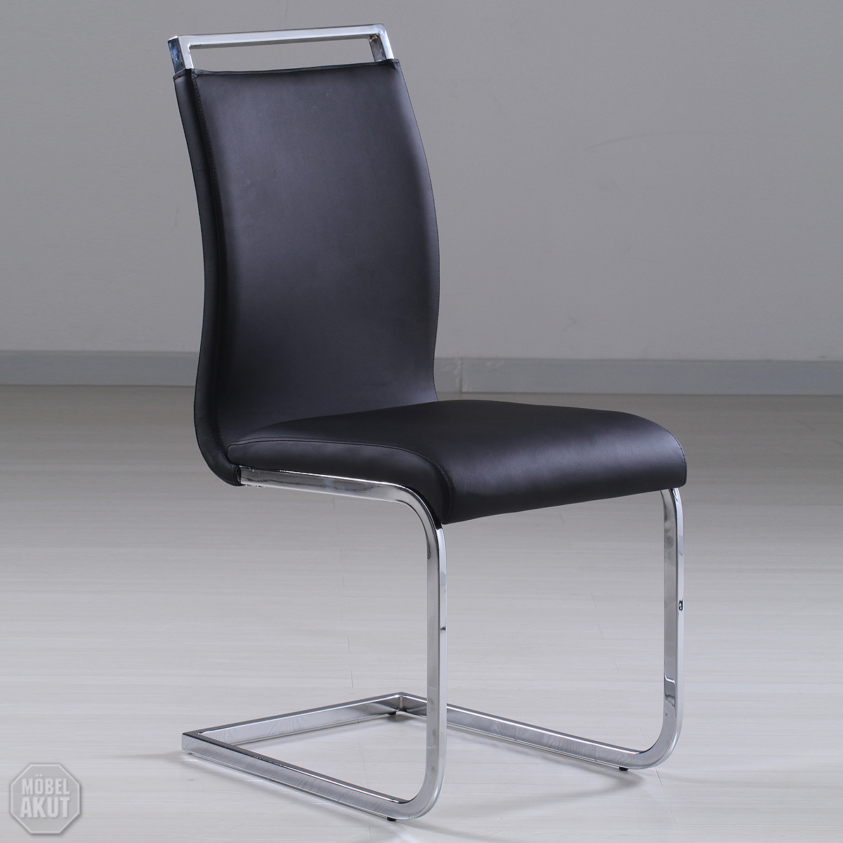 schwingstuhl vivo stuhl in schwarz freischwinger ebay. Black Bedroom Furniture Sets. Home Design Ideas