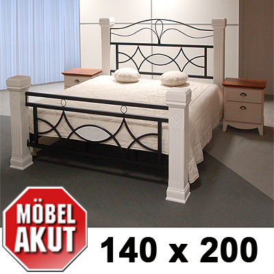 holz metall bett marco lattenrost wei b 140 cm ebay. Black Bedroom Furniture Sets. Home Design Ideas
