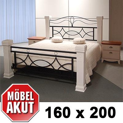 holz metall bett marco lattenrost in wei b 160 cm ebay. Black Bedroom Furniture Sets. Home Design Ideas