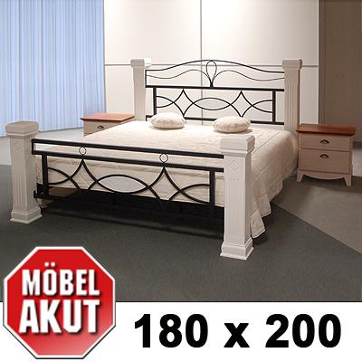 Holz Metall Bett Marco Lattenrost Weiss B 180 Cm Ebay