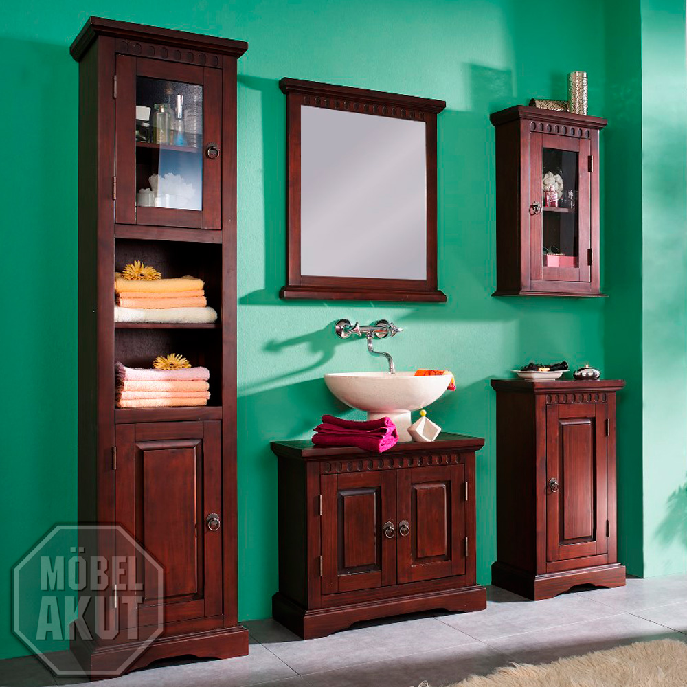 badm bel pisa badezimmer 5 teilig in pinie massiv kolonial. Black Bedroom Furniture Sets. Home Design Ideas