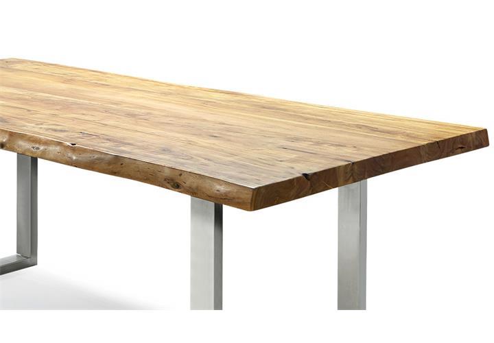 tisch madras massivholz esstisch 210x110 cm akazie mit baumkante gestell metall eur 749 95. Black Bedroom Furniture Sets. Home Design Ideas