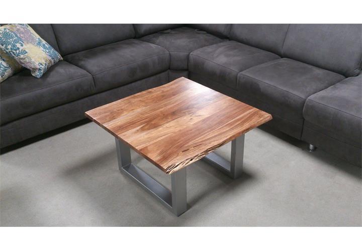 couchtisch agra massivholz wohnzimmertisch 80x80 cm akazie baumkante eur 199 95 picclick de. Black Bedroom Furniture Sets. Home Design Ideas