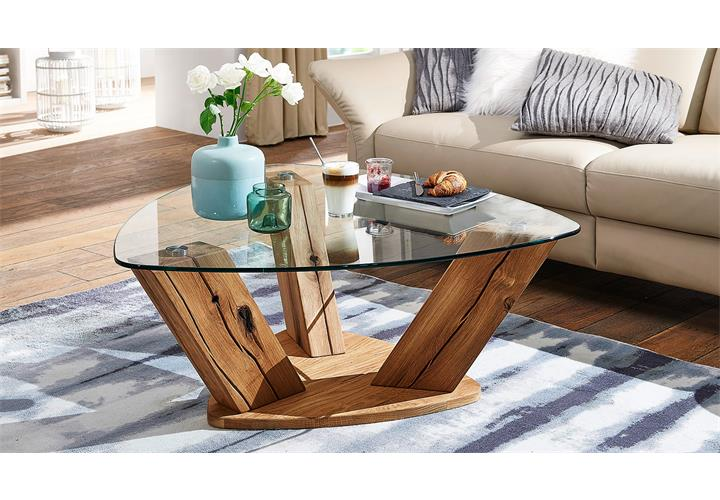 Couchtisch TI0036 Tisch Wildeiche natur geölt und