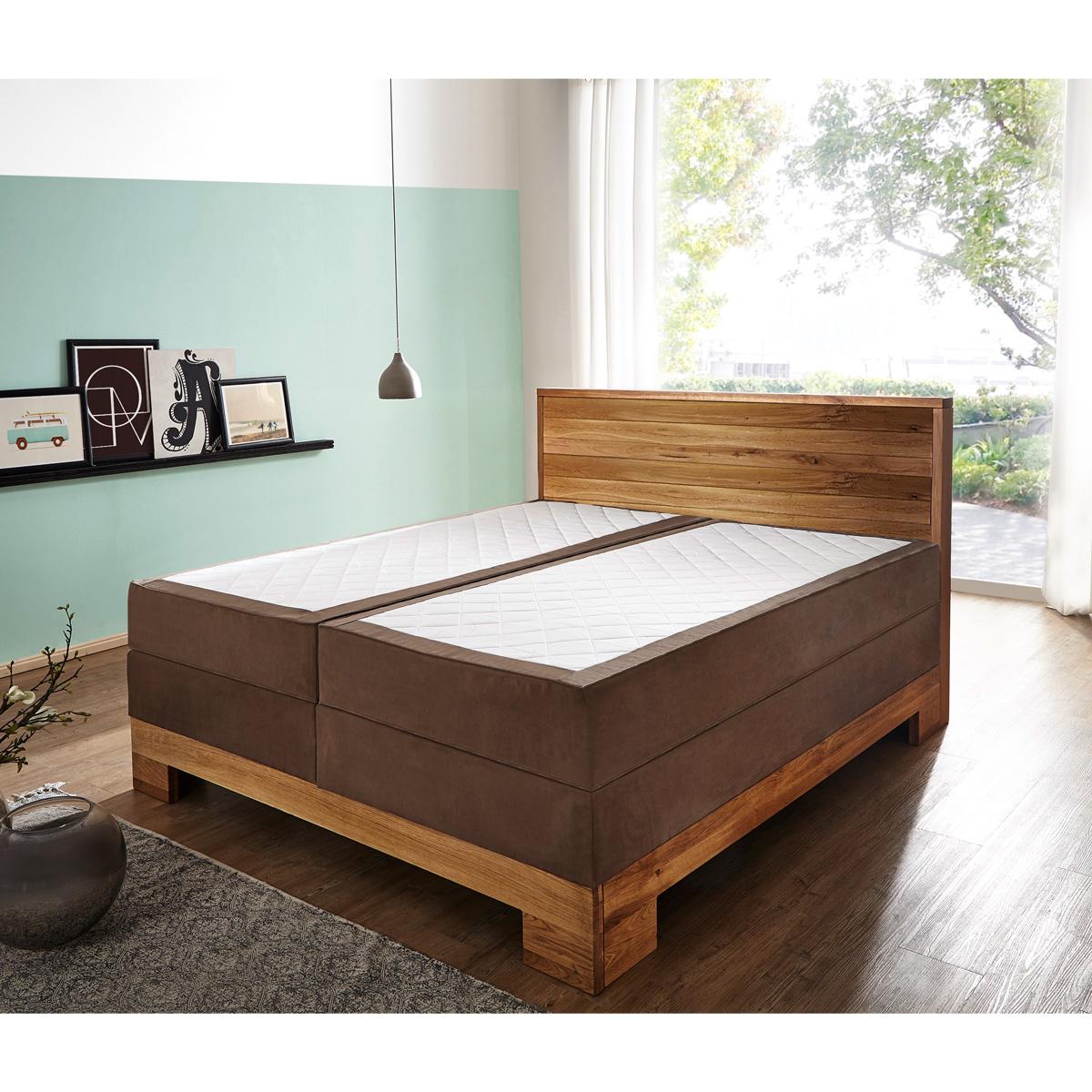 boxspringbett guana doppelbett stoff braun wildeiche massiv 7 zonen ttfk 180x200 eur. Black Bedroom Furniture Sets. Home Design Ideas