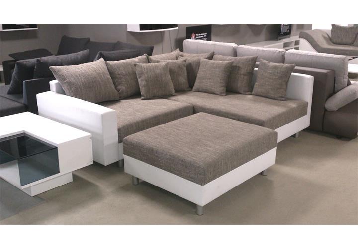 Wohnlandschaft claudia ecksofa couch xxl sofa mit ottomane for Couch xxl ottomane
