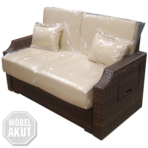 sofa darin outdoorsofa funktionssofa in beige polyrattan braun neu ebay. Black Bedroom Furniture Sets. Home Design Ideas
