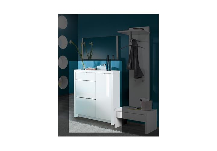 schuhschrank tonic schuhkommode garderobe flurm bel in wei hochglanz lack ebay. Black Bedroom Furniture Sets. Home Design Ideas