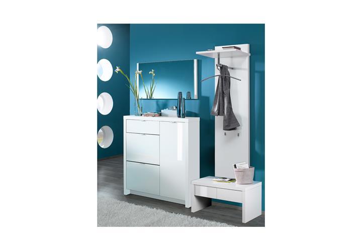 garderobenpaneel tonic paneel garderobenhaken garderobe in wei hochglanz lack ebay. Black Bedroom Furniture Sets. Home Design Ideas