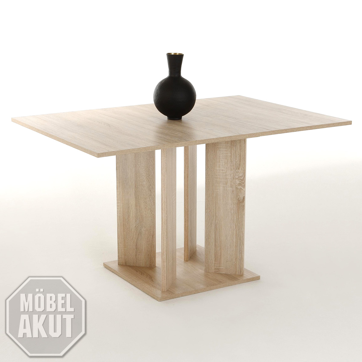 esstisch cora tisch in sonoma eiche s gerau ausziehbar 90 128 cm ebay. Black Bedroom Furniture Sets. Home Design Ideas