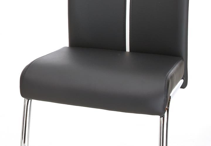 tischgruppe xenia tisch hochglanz wei 4 freischwinger st hle schwarz ebay. Black Bedroom Furniture Sets. Home Design Ideas