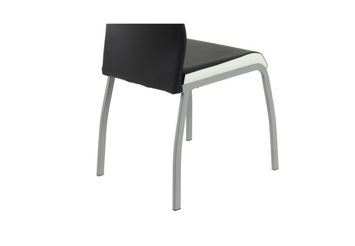 Stuhl set trixi 4 esszimmer st hle lederlook schwarz wei for Stuhl schwarz esszimmer