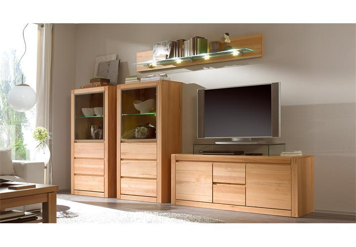 tv board pontos lowboard unterschrank fernsehschrank kernbuche teilmassiv 147 cm ebay. Black Bedroom Furniture Sets. Home Design Ideas