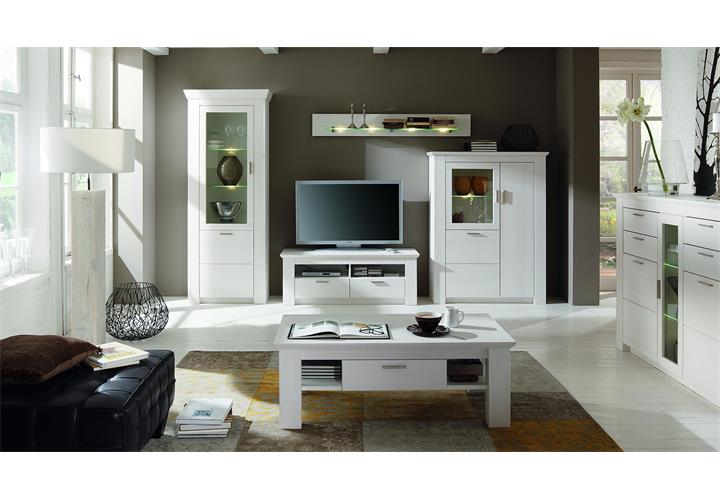 vitrine country highboard schrank landhaus in pinie wei teilmassiv. Black Bedroom Furniture Sets. Home Design Ideas