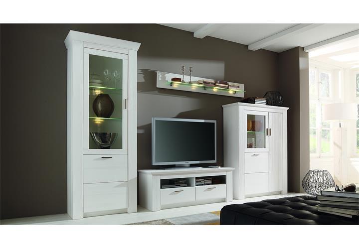 wohnwand 1 country anbauwand wohnzimmer wohnkombi landhaus. Black Bedroom Furniture Sets. Home Design Ideas