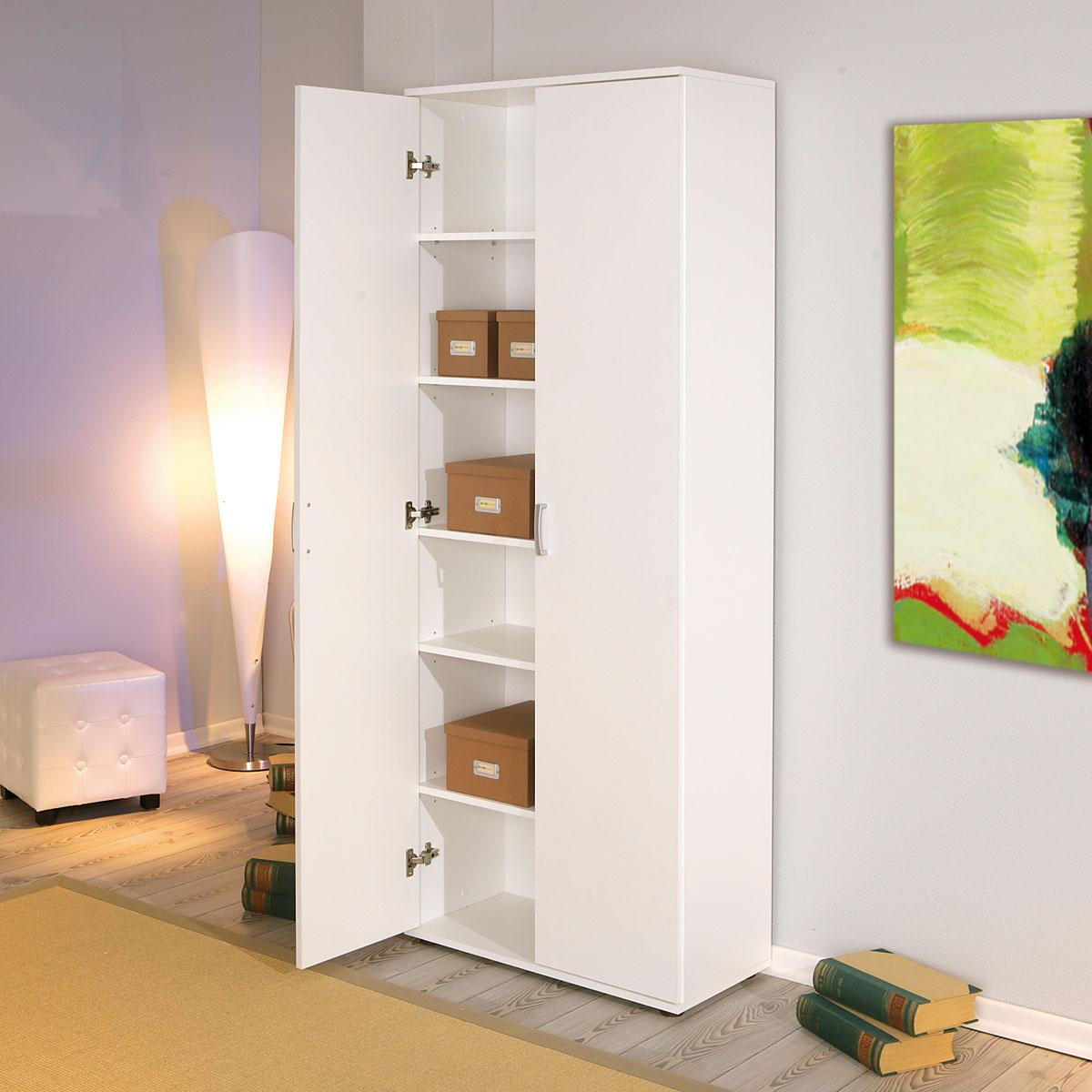 mehrzweckschrank haushaltsschrank b roschrank zwei t ren 6. Black Bedroom Furniture Sets. Home Design Ideas