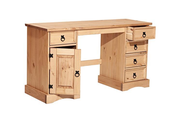 schreibtisch corona b ro tisch in pinie massiv und. Black Bedroom Furniture Sets. Home Design Ideas
