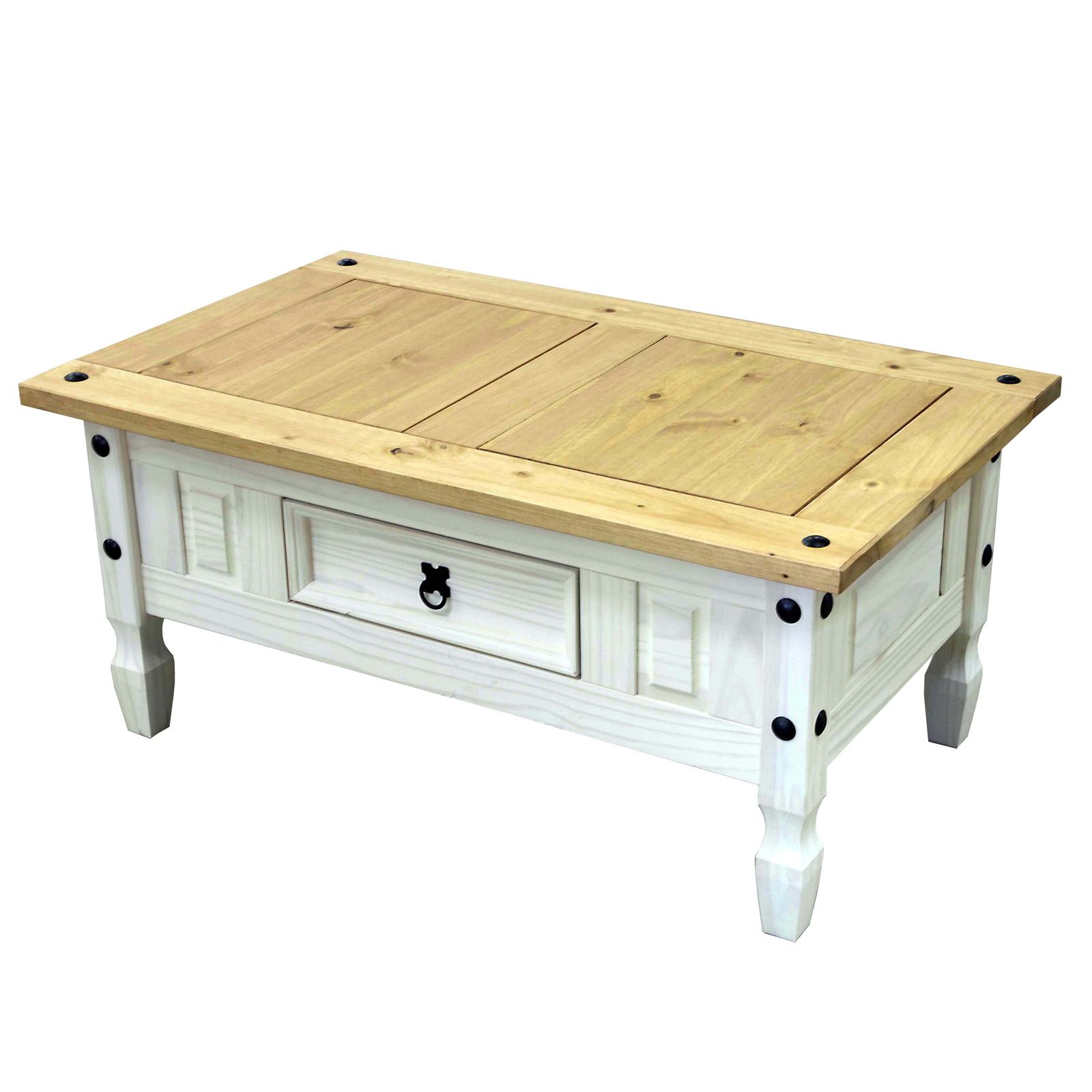 couchtisch corona wohnzimmertisch in pinie massiv honigfarben wei gewachst ebay. Black Bedroom Furniture Sets. Home Design Ideas