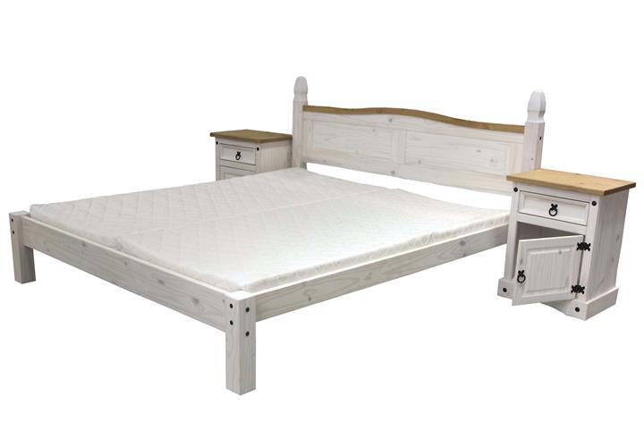 bettanlage corona schlafzimmer bett nachttisch pinie massiv honig wei gewachst eur 559 95. Black Bedroom Furniture Sets. Home Design Ideas