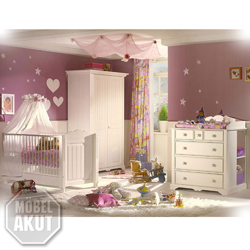 komplett babyzimmer luzi front massiv neu ovp ebay. Black Bedroom Furniture Sets. Home Design Ideas