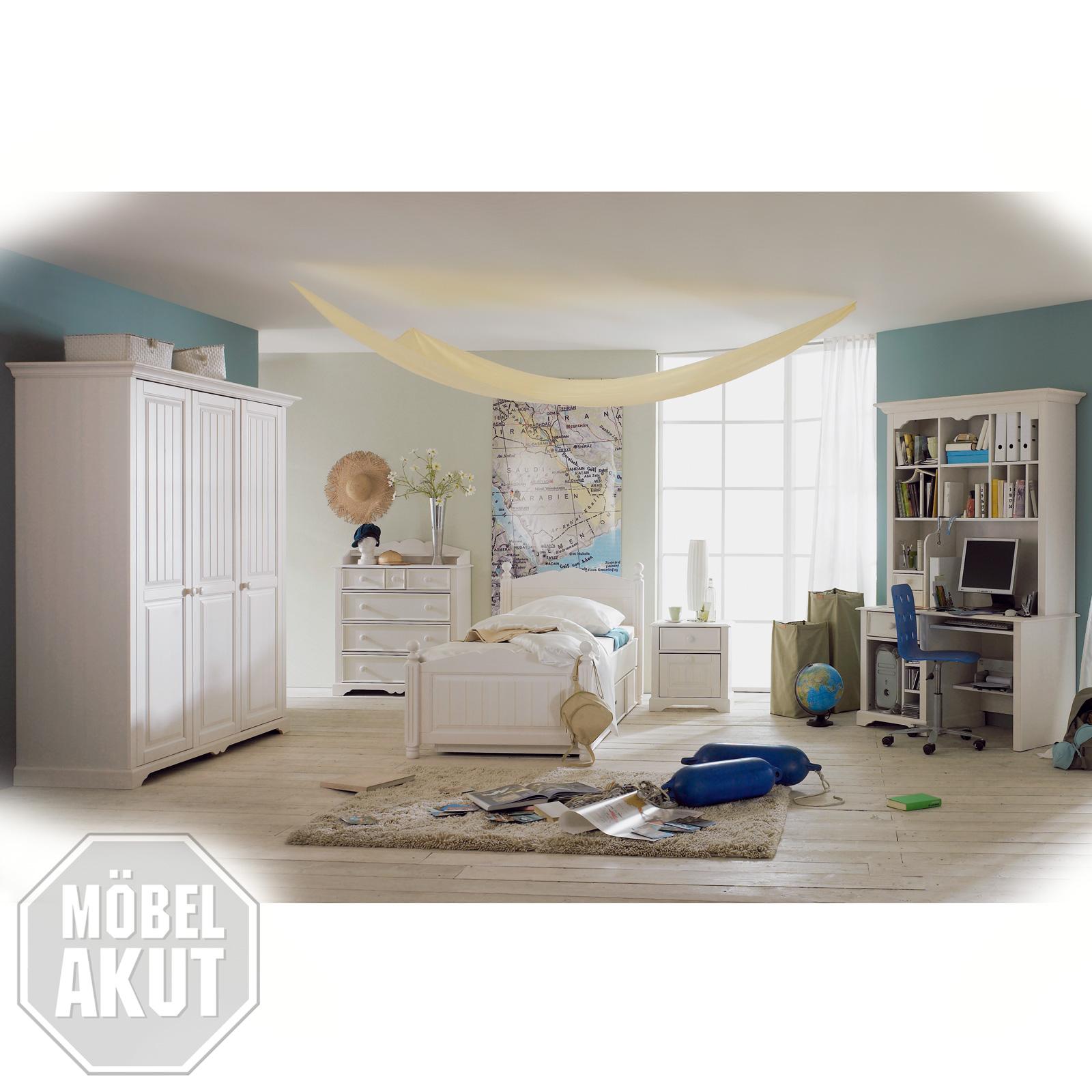 7 tlg jugendzimmer luzi kiefer massiv wei neu ebay for Jugendzimmer steffi saegerauh 7 tlg