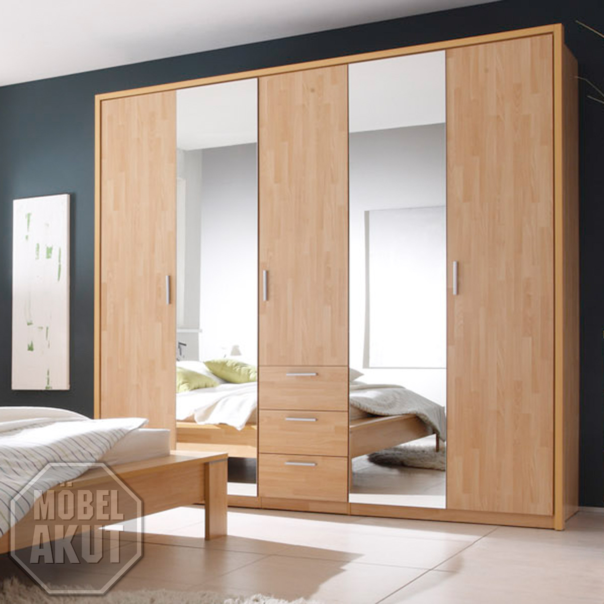 kleiderschrank sidra schrank buche parkett b 229 cm neu ebay. Black Bedroom Furniture Sets. Home Design Ideas