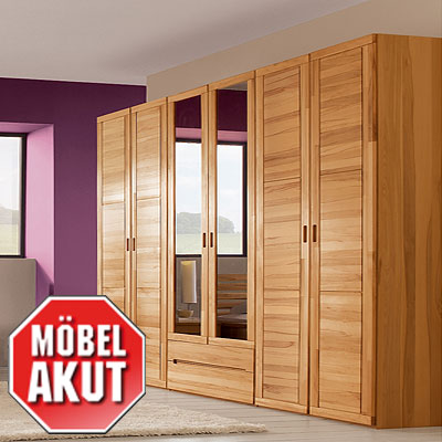 kleiderschrank linda schrank 6 trg kernbuche teilmassiv neu. Black Bedroom Furniture Sets. Home Design Ideas