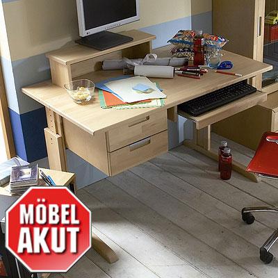 Schreibtisch primo b rotisch birke teilmassiv neu ebay for Schreibtisch birke