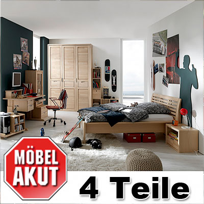 jugendzimmer set fynn kinderzimmer birke teilmassiv neu ebay. Black Bedroom Furniture Sets. Home Design Ideas