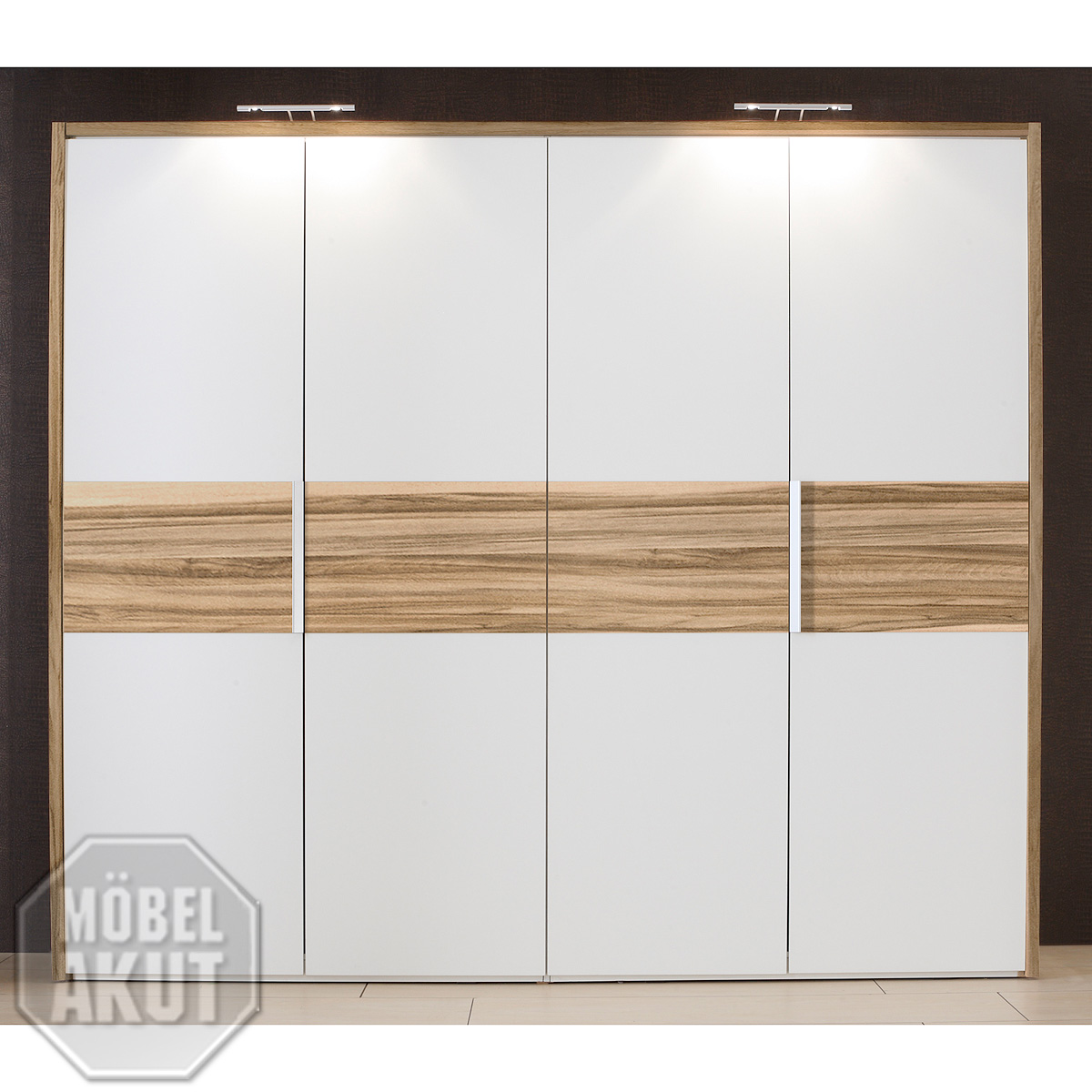 kleiderschrank eco schrank wei baltimore walnuss b 256 cm neu ebay. Black Bedroom Furniture Sets. Home Design Ideas