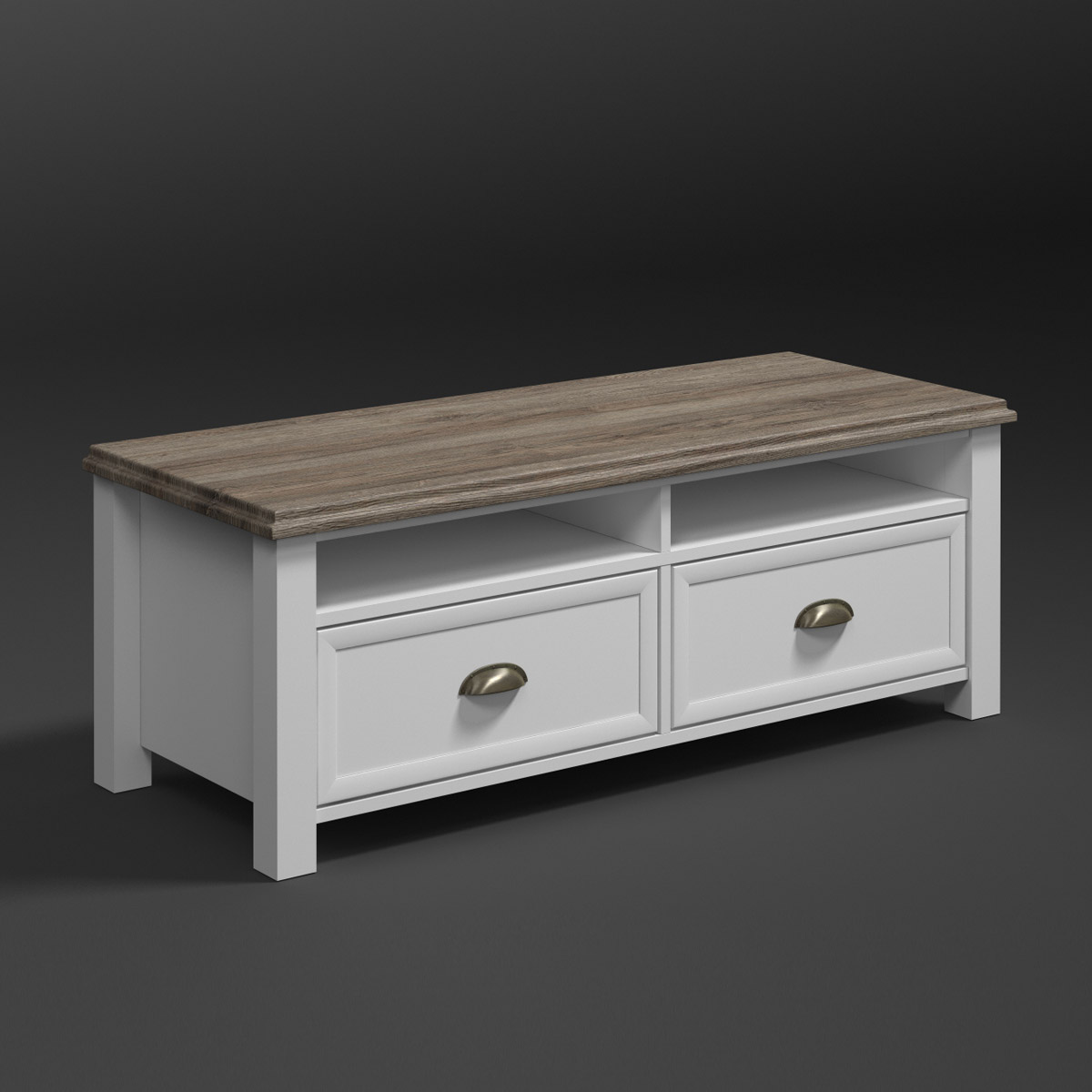 tv board chateau lowboard unterschrank wei und san remo. Black Bedroom Furniture Sets. Home Design Ideas