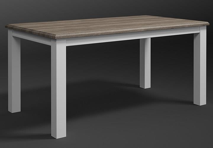 esstisch chateau tisch esszimmertisch wei und san remo eiche 02 ebay. Black Bedroom Furniture Sets. Home Design Ideas