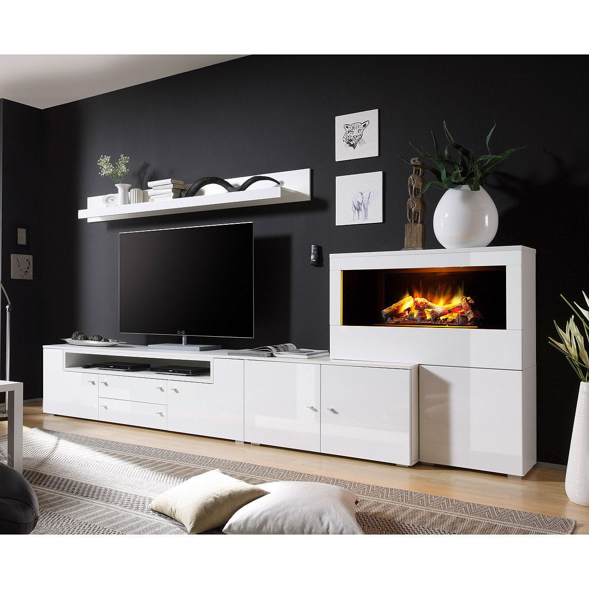 anbauwand mit kamin alles ber wohndesign und m belideen. Black Bedroom Furniture Sets. Home Design Ideas