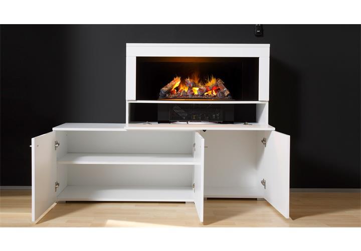 wohnwand 2 camino anbauwand wohnzimmer in wei hochglanz. Black Bedroom Furniture Sets. Home Design Ideas