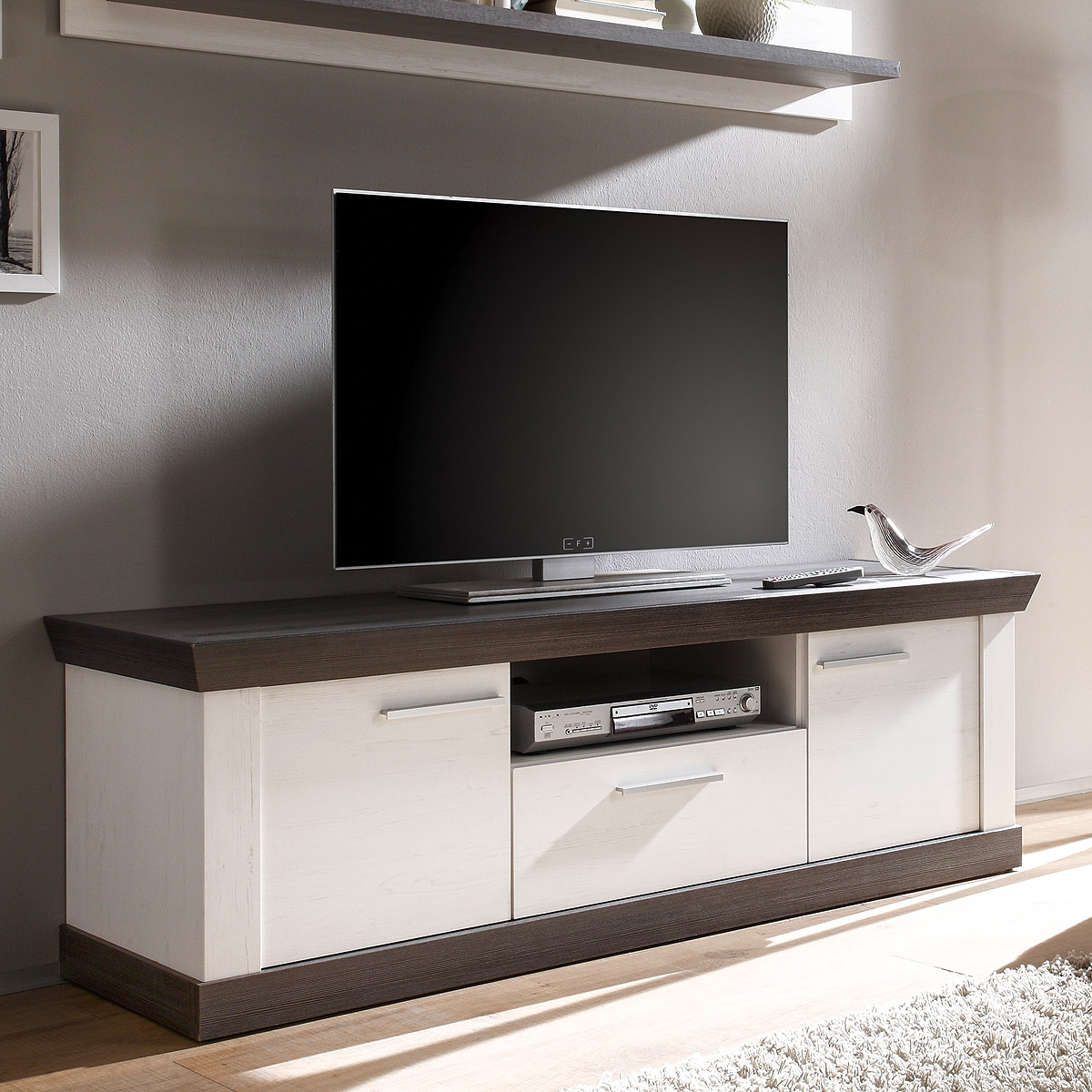 lowboard tiena fernsehschrank tv board unterschrank in. Black Bedroom Furniture Sets. Home Design Ideas