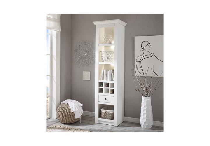regal westerland standregal landhausstil in pinie wei b 58 cm ebay. Black Bedroom Furniture Sets. Home Design Ideas