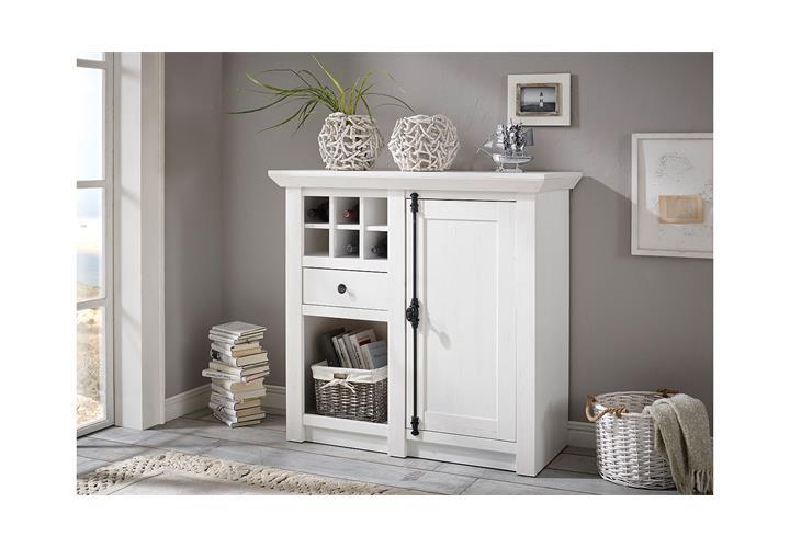 kommode westerland anrichte landhausstil in pinie wei b 105 cm ebay. Black Bedroom Furniture Sets. Home Design Ideas